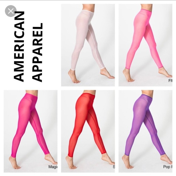 e38ff9d5a American Apparel Pants - American apparel micro mesh leggings 2 pack!